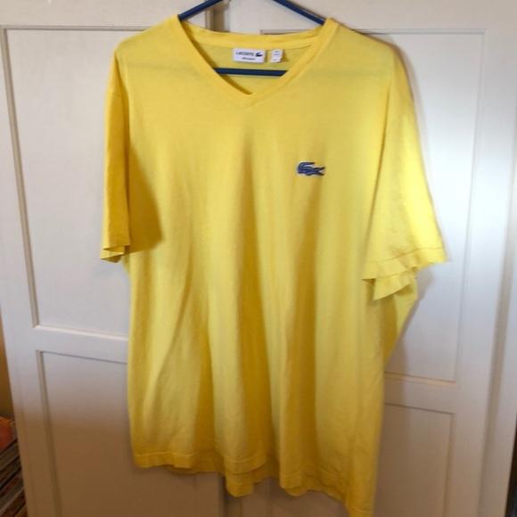 3f7f28a7 Lacoste Shirts   Mens Auth V Neck Tshirt Yellow 4xl 3xl   Poshmark